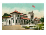 Bath House, Santa Barbara, California Print