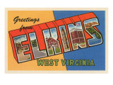 Greetings from Elkins, West Virginia Prints