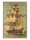 French Square-Rigged Sailing Vessel Prints