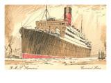 Cunard Ocean Liner RMS Samaria Posters
