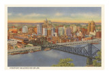 Riverfront and Skyline, Pittsburgh, Pennsylvania Prints