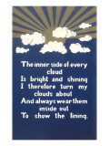 Inspirational Cloud Poem Prints