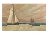 Small and Large Sailing Boats Poster