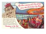 El Cortez Hotel Sky Room, San Diego, California Prints