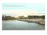 Pier, Crescent Park, Providence, Rhode Island Print