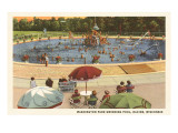 Pool, Washington Park, Racine, Wisconsin Posters