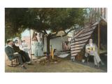 Coronado Tent City Life, San Diego, California Prints