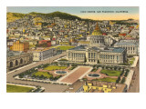 Civic Center, San Francisco, California Print