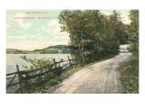 Shore Road, Lake Bomoseen, Rutland, Vermont Prints