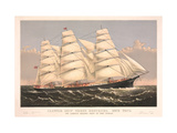 Clipper Ship Three Brothers, 2972 Tons, Largest Sailing Ship in the World Posters