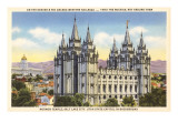 Mormon Temple, Salt Lake City, Utah Posters
