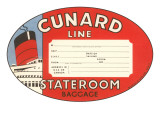Cunard Line Baggage Tag Prints