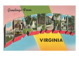 Greetings from Lexington, Virginia Poster