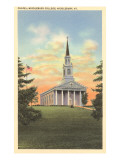 Chapel, Middlebury College, Middlebury, Vermont Poster