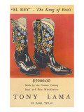 Cowboy Boots by Tony Lama Psters