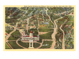 Aerial View, State Capitol, Salt Lake City, Utah Posters