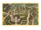Aerial View, State Capitol, Salt Lake City, Utah Prints
