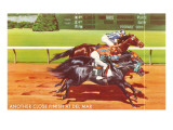 Another Close Finish at Del Mar, California Prints