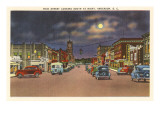 Moon over Main Street, Anderson, South Carolina Art