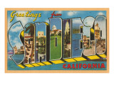 Greetings from San Diego, California Print