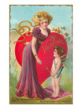 My Valentine, Cupid and Lady with Whip Prints