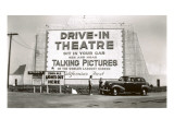 California&#39;s First Drive-In Movie Theater Print