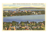 Mendota- und Monona-See, Madison, Wisconsin Foto