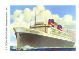 Ocean Liner SS President Cleveland Posters