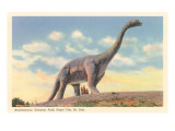 Brontosaurus, Dinosaur Park, South Dakota Prints