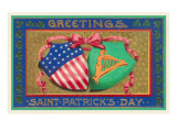 Greetings, St. Patrick's Day, American Shield Plakaty