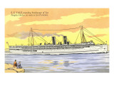 Ship Coming into San Francisco, California Posters