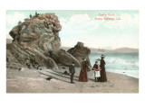 Castle Rock, Santa Barbara, California Print