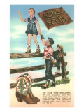 Advertisement for Children's Cowboy Boots Poster