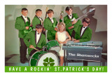 Have a Rockin St. Patricks Day, School Rock Band Poster