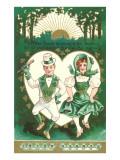 St. Patrick's Day, Dancing Leprechauns Reprodukcje