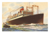 Steamship with Tugboat Posters
