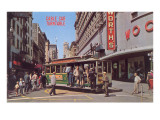 Cable Car Turn-Table, San Francisco, California Prints