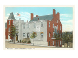 Masonic Lodge, Fredericksburg, Virginia Prints