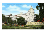 Mission San Luis Rey, Oceanside, California Print