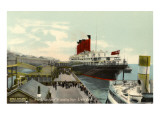 Lusitania at Landing Stage, Liverpool Prints