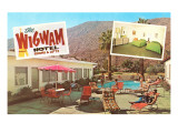 Wigwam Hotel, Vintage Motel Posters