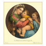 Madonna of the Seggiola, Raphael, Florence Prints