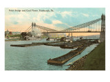 Point Bridge, Coal Fleet, Pittsburgh, Pennsylvania Prints