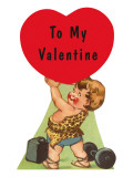 To My Valentine, Little Boy as Strongman Print