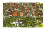 Aerial View of State Capitol, Columbia, South Carolina Posters