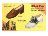 Loafers and Saddleshoes Advertisement Prints
