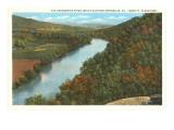 Fluss Greenbrier, White Sulphur Springs, West-Virginia Kunstdrucke