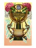 Art Nouveau February, Pisces Art