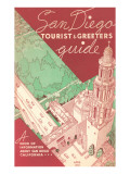 Tourist and Greeters Guide, San Diego, California Posters