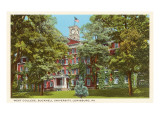 West College, Bucknell, Lewisburg, Pennsylvania Prints